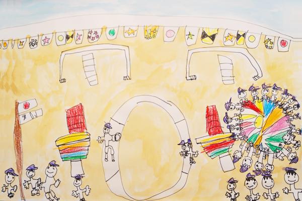 行事画「運動会」(5歳児)