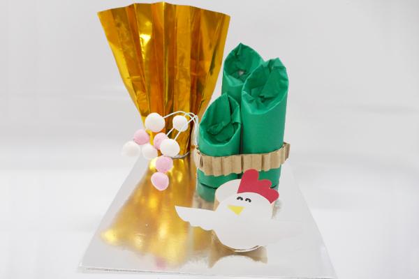 門松でお正月を飾ろう(3歳児)
