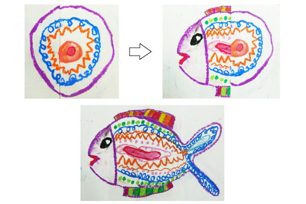 不思議なたまごから生まれた魚(4,5歳児)