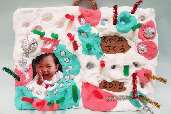 粘土でペタペタ♪クリスマスプレート(2歳児)