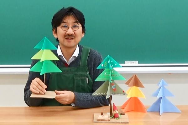 画用紙でつくるクリスマスツリー