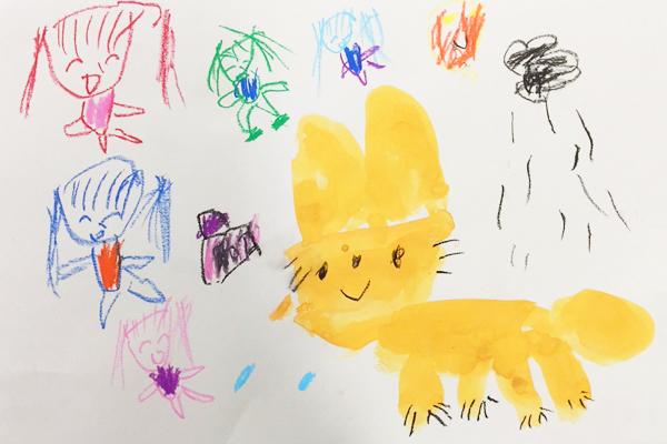 お話の絵「こぎつねキッコ」(4歳児)