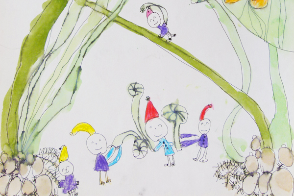 サトイモ畑の小人さんのパーティー(5歳児)