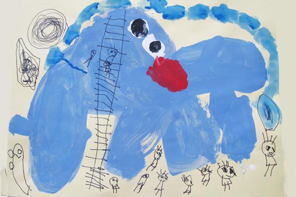 お話の絵「ぐるんぱのようちえん」(4歳児)