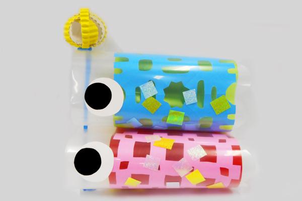 切り紙のクリア鯉のぼり【こいのぼり】(5歳児)