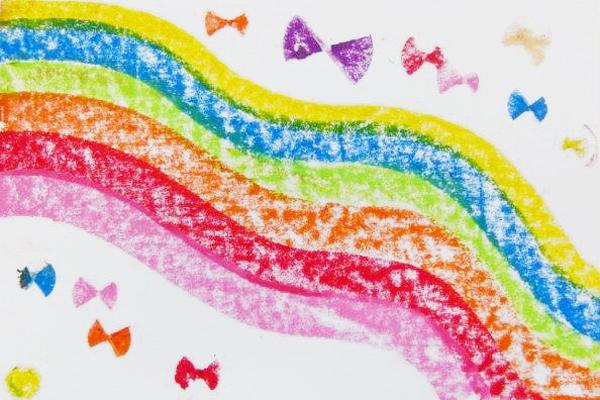 虹色に変えてみよう!(5歳児)