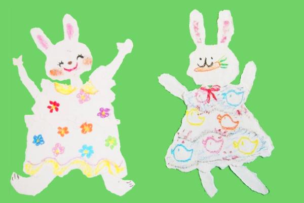 お話の絵「わたしのワンピース」製作遊び(3歳児,4歳児,5歳児)