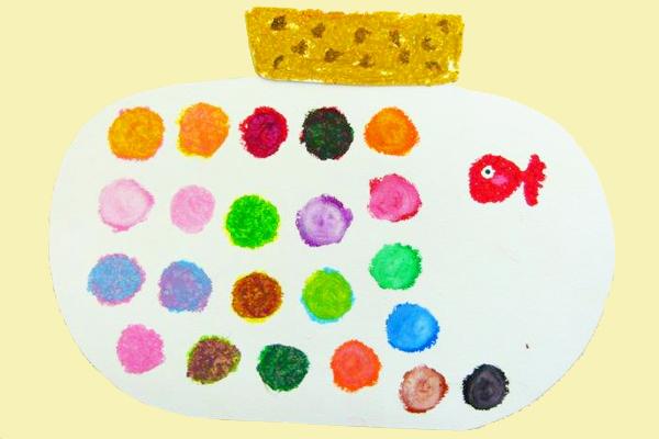 すてきな色のキャンディー (4,5歳児)