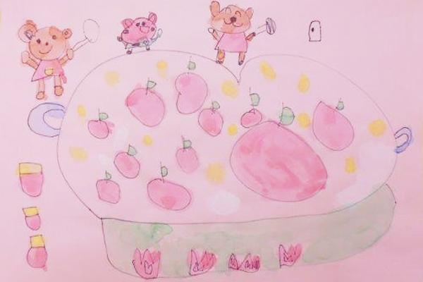 お話の絵「じゃむじゃむどんくまさん」(5歳児)