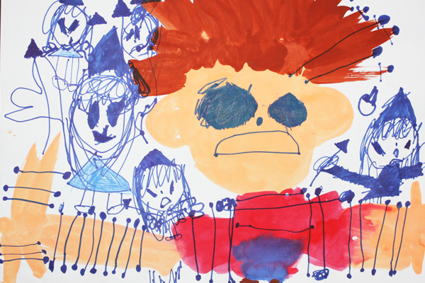 お話の絵「ガリバーりょこうき」(4歳児)