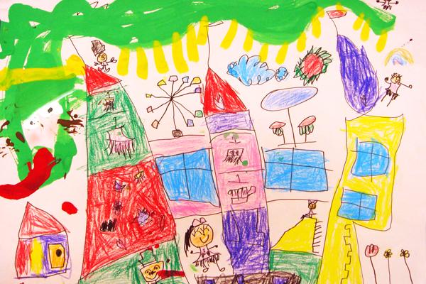 お話の絵「おひめさまようちえん」(5歳児)