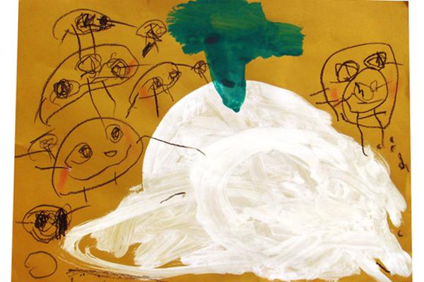 お話の絵「おおきなかぶ」(3歳児)
