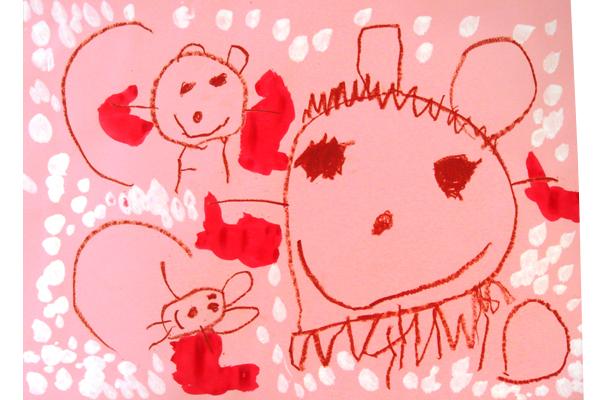 お話の絵「どうぶつ山のクリスマス」(3歳児)