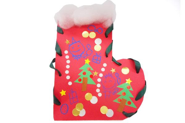 飾って楽しい!クリスマスブーツ(4歳児)