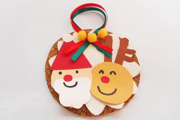 コルクでクリスマスオーナメント(5歳児)