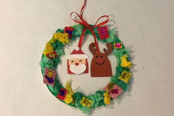 にぎにぎ ぎゅっぎゅっ クリスマスリース(0歳児)
